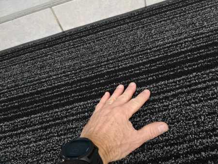 paillasson extérieur grattoir gris bordure vinyle