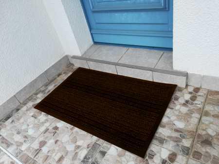 paillasson extérieur grattoir marron bordure vinyle