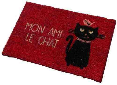paillasson chat en coco humoristique