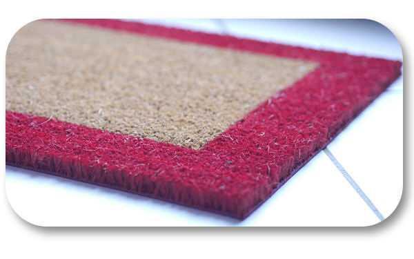 tapis brosse 80x40 rouge semelle pvc