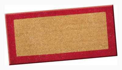 Paillasson 80x40 bordure rouge semelle pvc