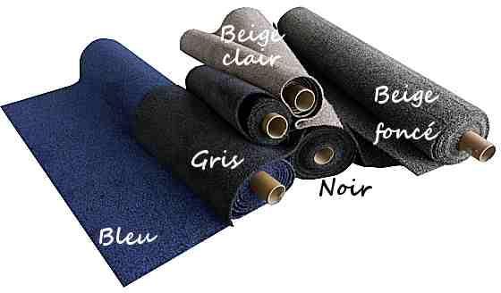 Paillasson sur mesure gris bleu noir beige